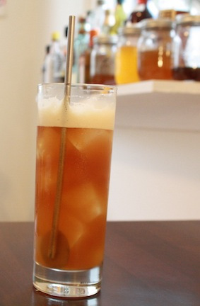 Ginger Bee: Honey, ginger, and clove mixer combined with dark rum