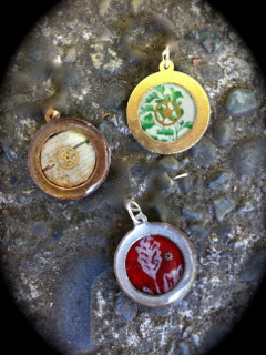Examples of custom pendants given as a reward for $25 reward level!