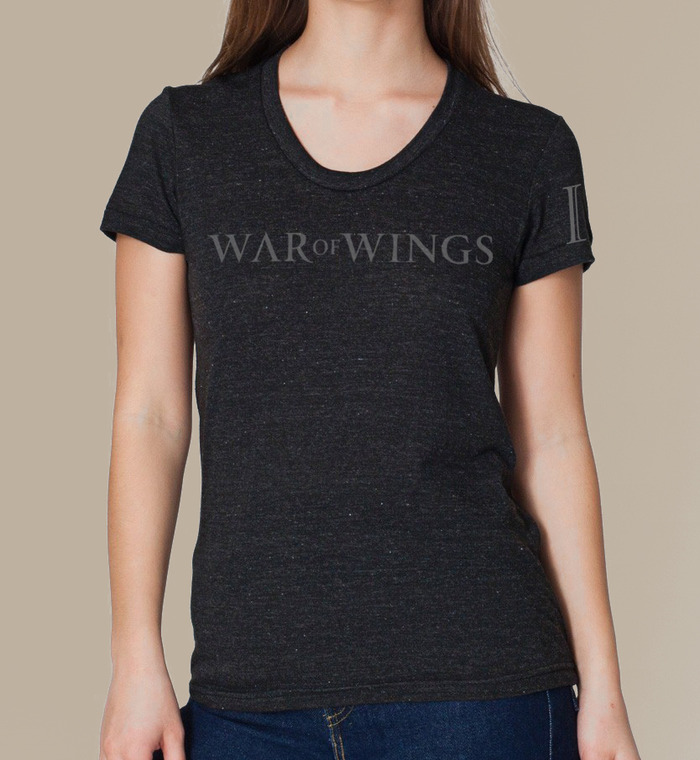 War Of Wings logo t-shirt - yours with a pledge of $50 or more