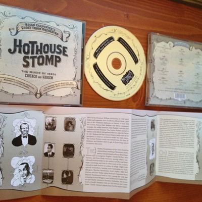 Hothouse Stomp CD Package, included within several of the reward packages and featuring artwork by Molly Crabapple and historical liner notes by Brian Carpenter