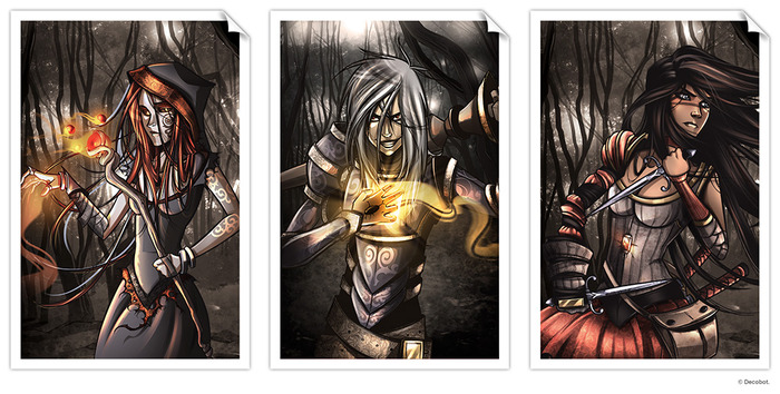 The Dark Legends: (Left to Right) Vega, Cedric, and Roslynn. (Click to enlarge)