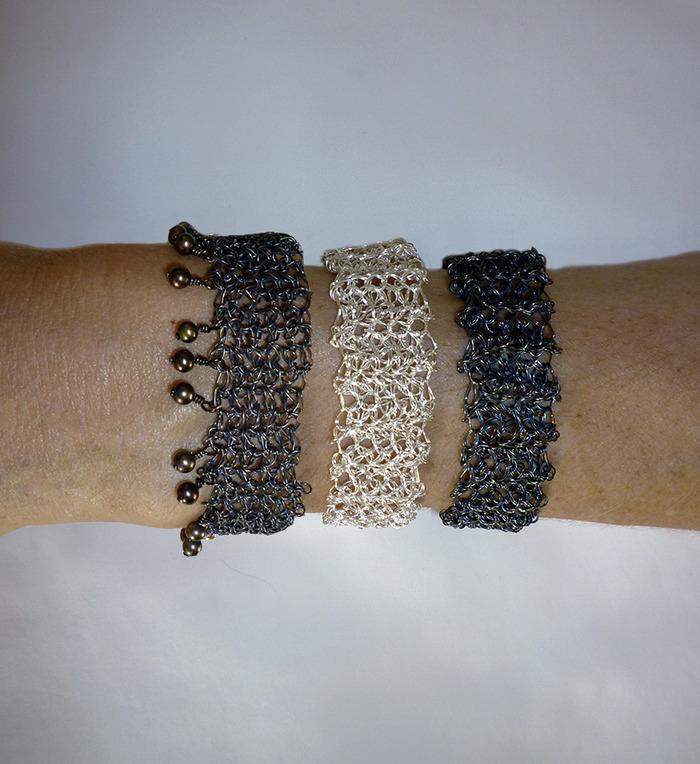 ben bracelets by New York artist, Pamela Matsuda-Dunn.