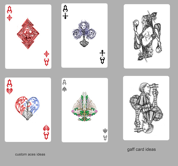 Concept Sketches of Custom Aces and Gaff Card #1