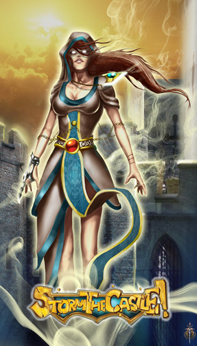 "$9 - A stunning 11.25""x17.25"" poster of the Fantasy Defender Hero: The Archpriestess. Save $1 on retail. Shipping included for all STC pledges. This KS exclusive poster will have the Fantasy Defender icon - future prints will not have this."