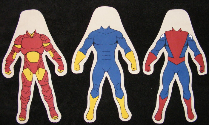 Body styles for 12 inch Male Dolls. Red/Yellow Armor Male, Blue/Yellow Male, Patriot Male.