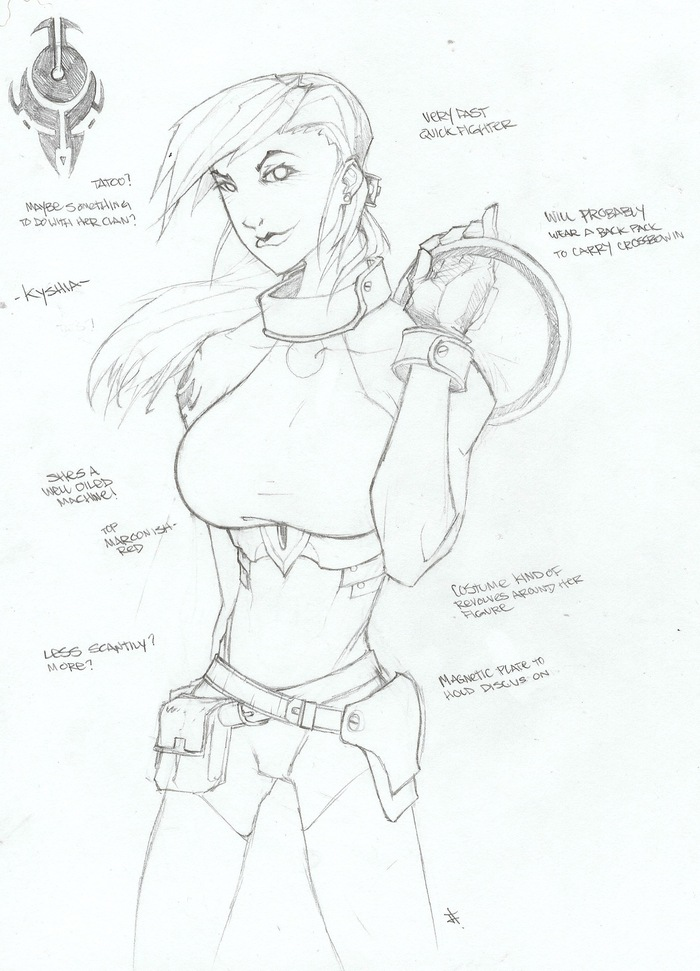 Kyshia concept art by Jeff Stokely