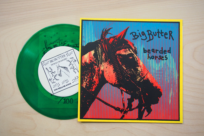 "Bearded Horses - 1-sided 7"" single - Numbered Edition of 100"