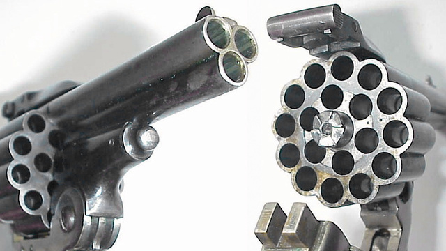 Garlock's triple-barrel revolver