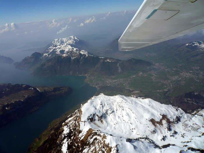 Over the Swiss Alps in 2009