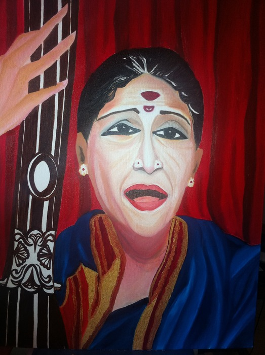 M.S.Subbulakshmi - the world-renowned late carnatic singer from south India