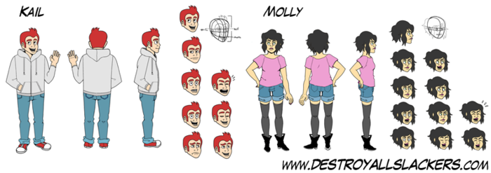 Model Sheets for Kail and Molly