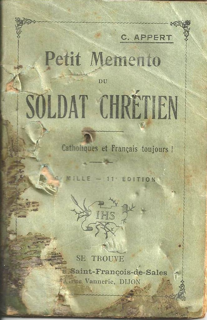 Joseph Arthur's prayer book, 1918
