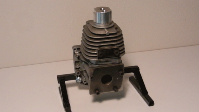 HydroICE converted 31cc gas engine