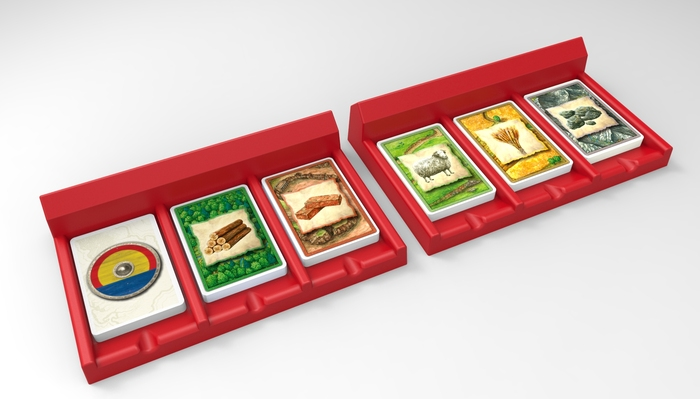 Pledge includes pair of two Catan Resource Card Holders