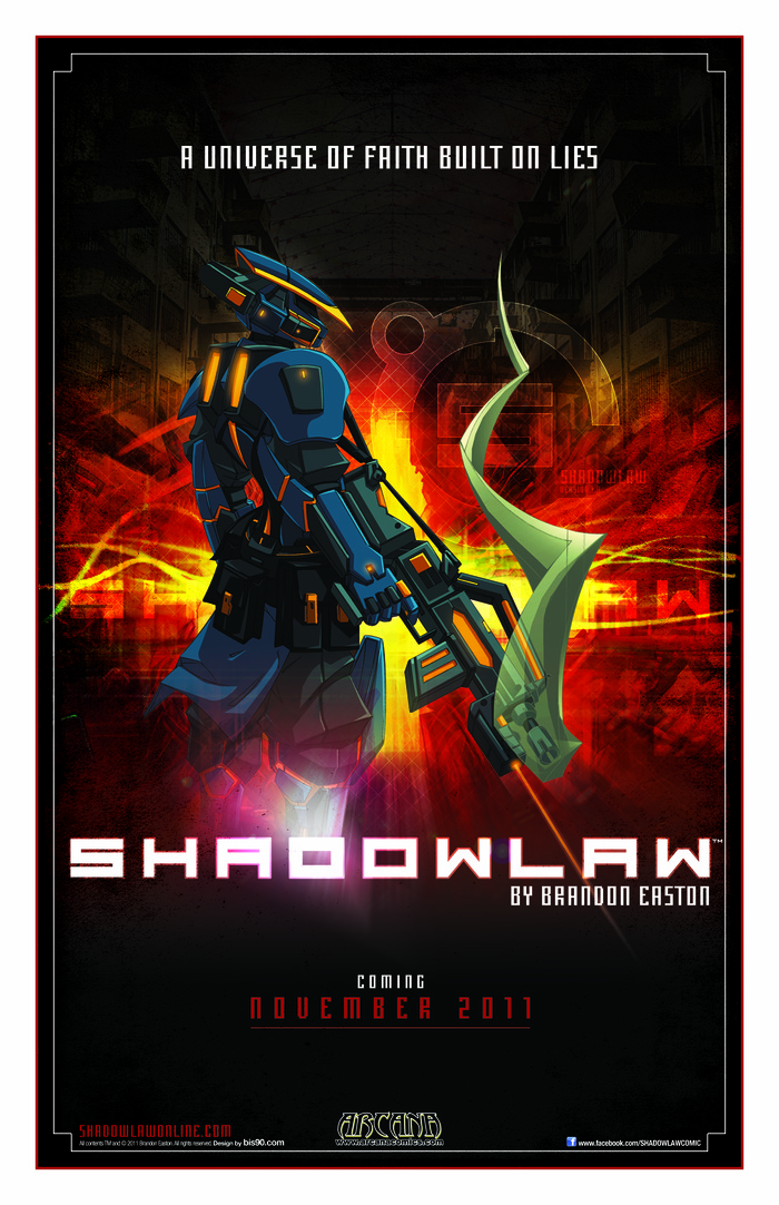 SHADOWLAW: THE GRAPHIC NOVEL - Ad design by Anthony Ventolieri