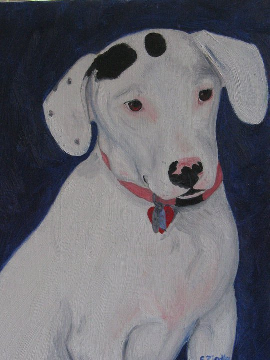 Heres an example of a custom pet portrait. What a fun reward!