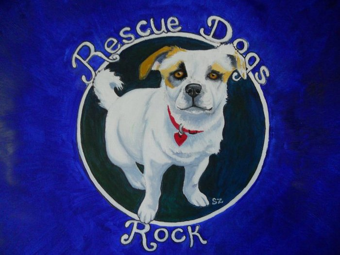 This custom rescue dog design is on the hoodie sweatshirt reward.