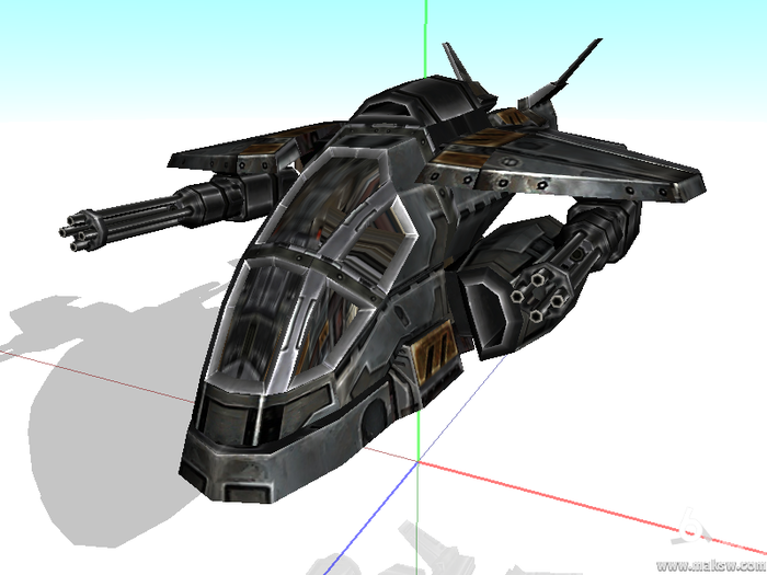 A pre-bought Fighter model in the Content Authoring model viewer.