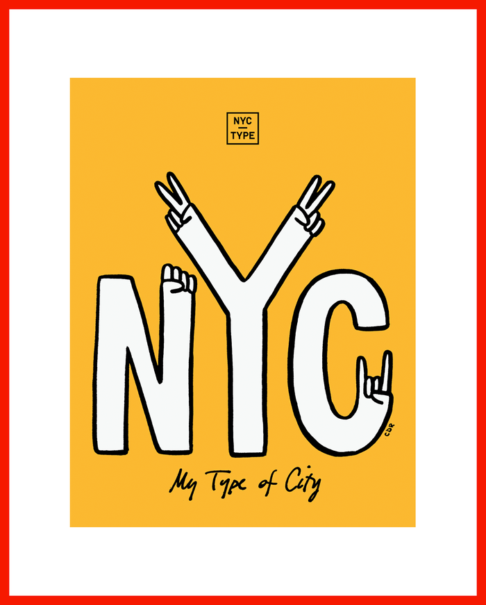 "Limited edition ""My Type of City"" poster by Christopher David Ryan. Available at the $75 level."