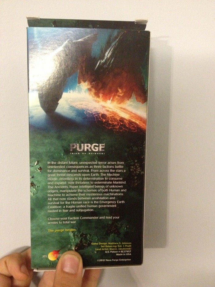 Back of PURGE Box
