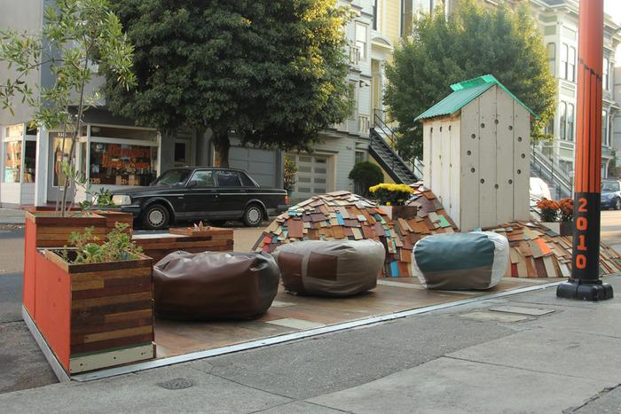 Fabric8 Parklet's First Installation by Erik Otto