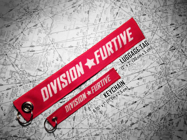 Division Furtive Luggage Tag and Keychain (logo side)