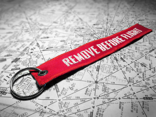 "Division Furtive ""Remove Before Flight"" Keychain"