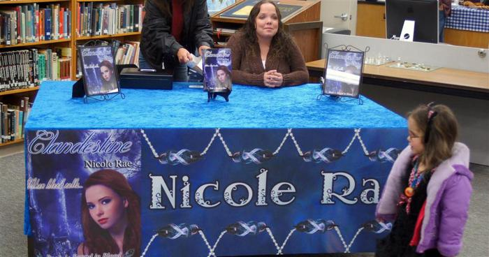 Nicole Rae at a Book Signing
