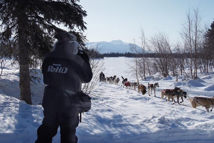 Caporale in Alaska on the Iditarod Trail.