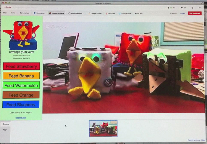 RoboBrrds on Google+ Hangouts
