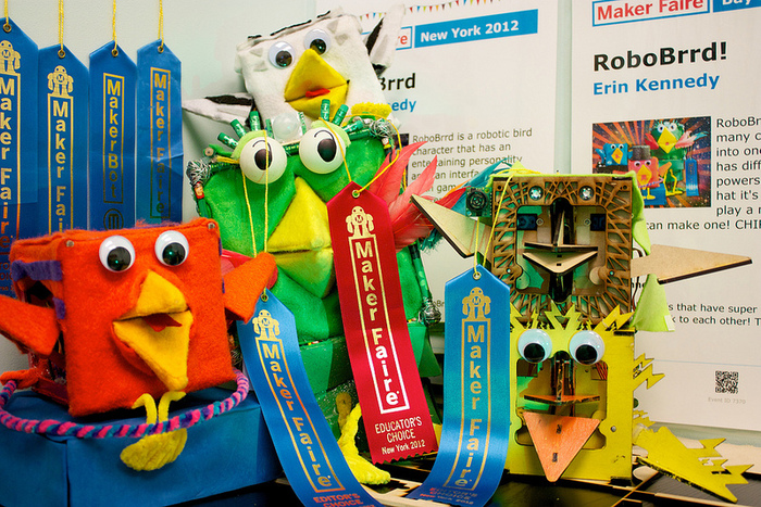 All the RoboBrrds, winner of Maker Faire Educator's Choice 2012!