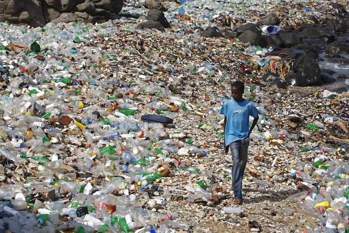 Coastal pollution, Dakar, Senegal