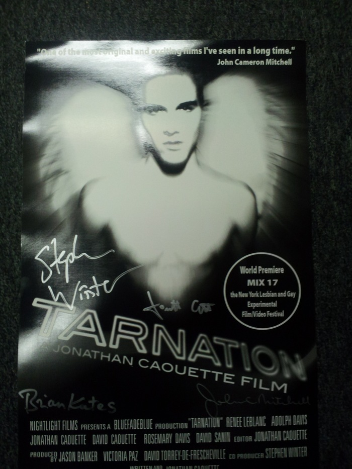 Signed by the Jonathan Caouette, John Cameron Mitchell, Stephen Winter and Emmy Award winner Brian Kates