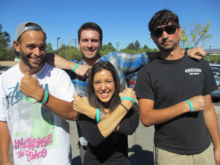 The crew sporting their new bands!