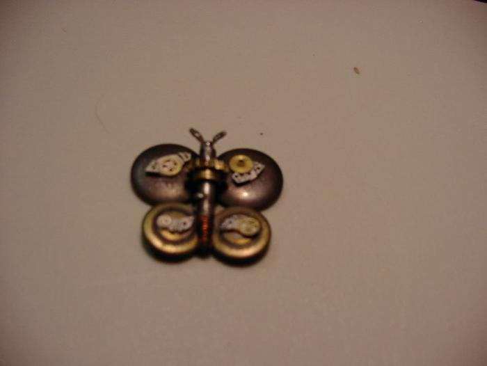 Example of a mechanical animal pendant - butterfly