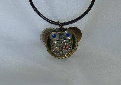 Example of a mechanical animal pendant - monkey
