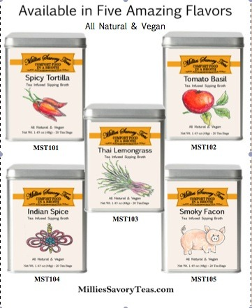 Millies Savory Teas 5 Flavors