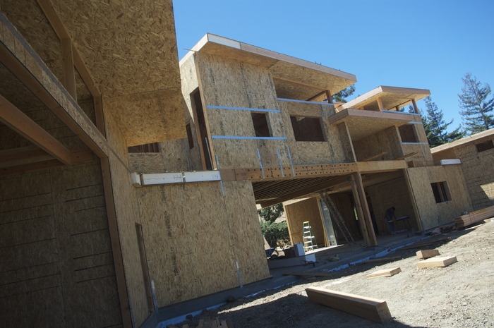 Passive House under construction, Northern California