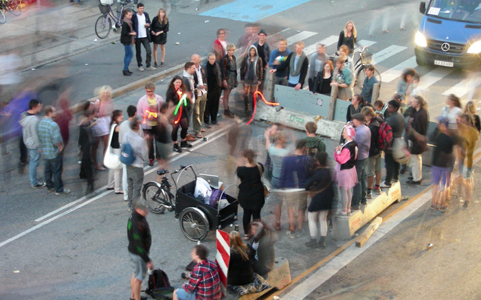 Playing J.S. Joust in the streets of Copenhagen (Photo by Jakob Moesgaard)