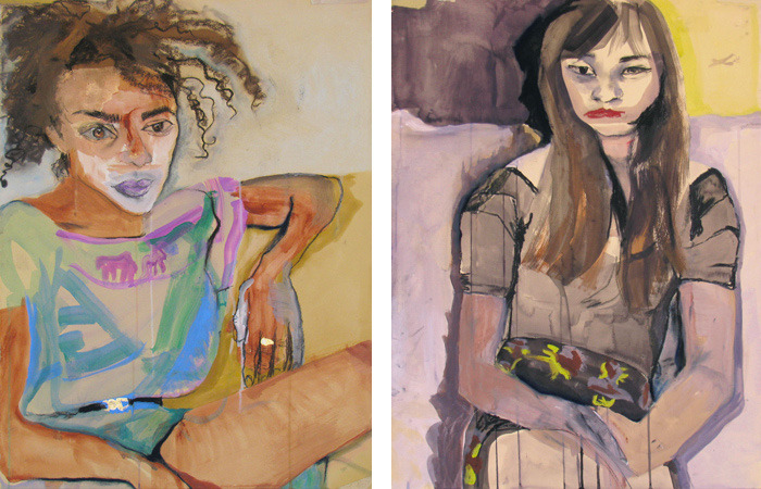 Two recent portraits by Zina Al-Shukri.
