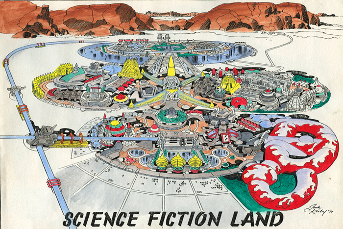 Jack Kirby's original Science Fiction Land design, based on blueprints by Barry Ira Geller