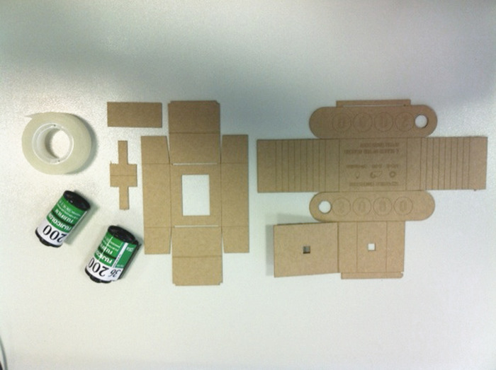 kit of parts for studio2080 pinhole camera