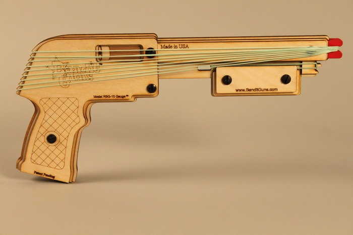 """The Outlaw"" Rubber Band Shotgun"