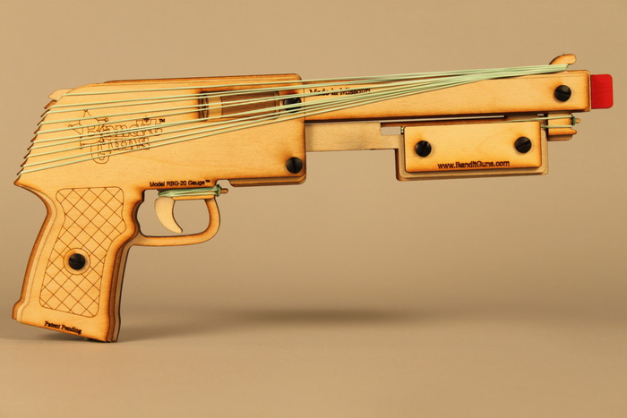 """The Sheriff"" rubber band shotgun"