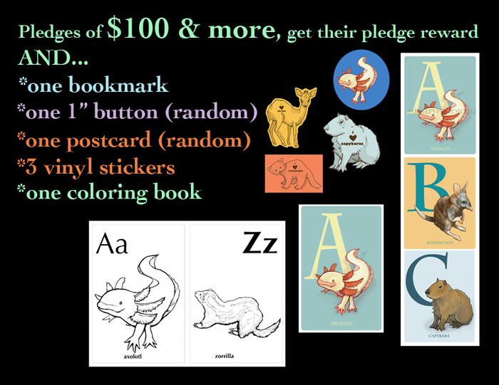 For pledges of $100+: in addition to all of the above, you also get a free coloring book!