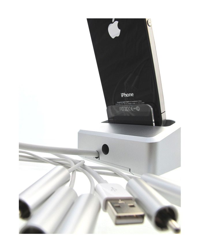 ONE{DOCK} + iPhone 4 + Apple AV Cable