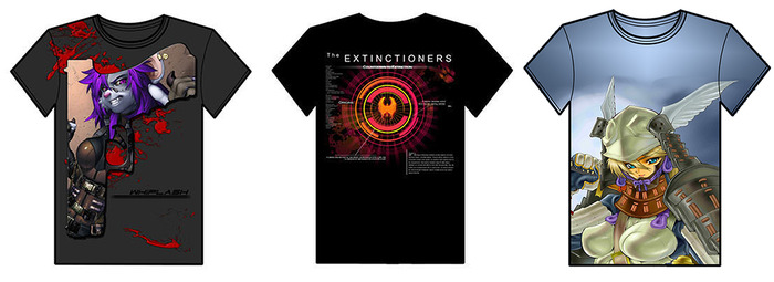 Whiplash Extinctioners Valkyrie  Shirts!