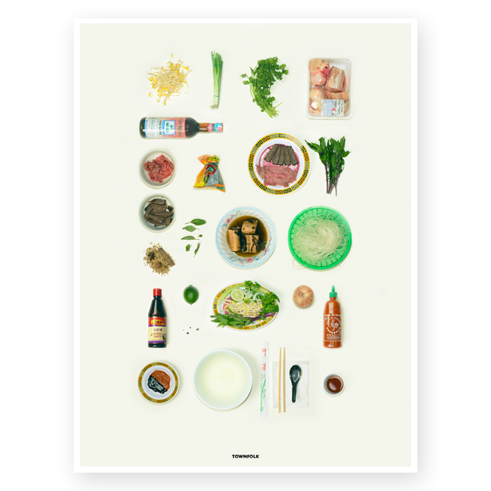 "18"" x 24"" Photographed Phở Ingredients Poster"
