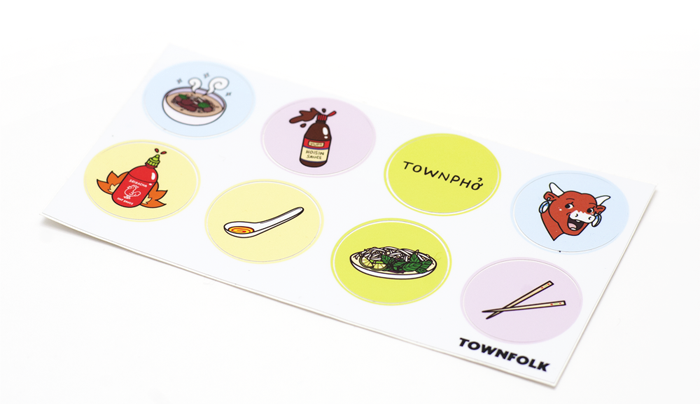 Illustrated Phở Sticker Sheet