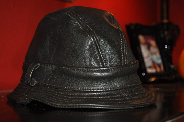 "Genuine Leather Dark Brown ""Pikey Cap"" as seen in ""Snatch"""
